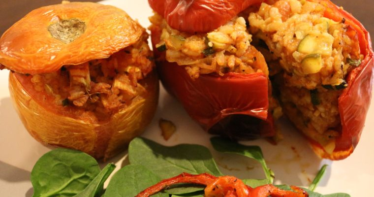 Vegan and Gluten-Free Stuffed Vegetables